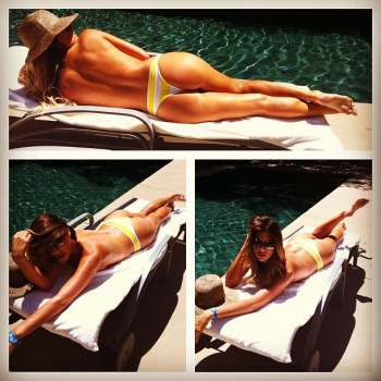 Daisy Fuentes Showing Off Her Tanned Rear End August 5, 2012 MQ x 1